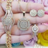 xuping set perhiasan lapis emas 24k 25z17