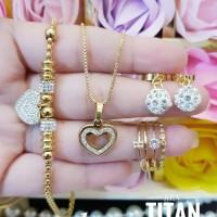 titanium set perhiasan 25z3