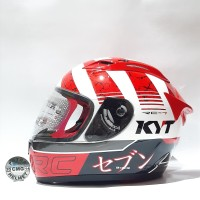 HELM KYT RC SEVEN MOTIF #17 WHITE RED