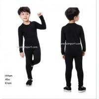 Longjohn Kids, Baju Musim Dingin Longjohn, Baju Winter Long john Anak - Hitam, S