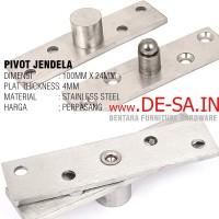"Engsel Pivot Tengah 4"" / 100 MM - Jendela - Stainless Steel"