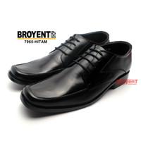 Sepatu Kerja Kantor Pantofel Pria Kulit Sapi Asli Warna Hitam 7965