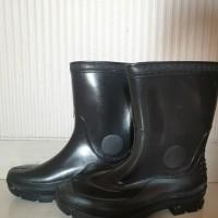 Sepatu Boot Forli Pendek Hijau bot lentur karet ukuran BESAR anti air