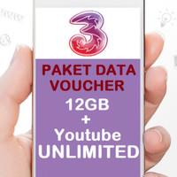 Voucher Three AMI 12 GB + Unlimited Youtube