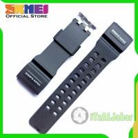 Tali jam tangan SKMEI 1358 Rubber strap Hitam list putih