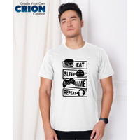 Kaos Gamer - Eat Sleep Game Repeat - By Crion