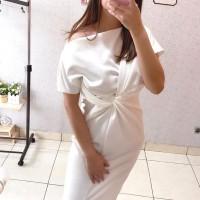 DRESS WANITA MEGGIE DRESS D101 - Putih