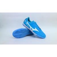 sepatu futsal mizuno fortuna blue white lokal premium 38-44