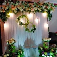 sewa dekorasi backdrop photobooth wedding size 2,2meter