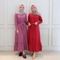 cod/Gamis/Bahira maxi/gamis modern/baju gamis syari/gamis murah - maroon