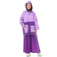 Jas Hujan Rok SALSA. Setelan Perempuan Wanita Muslimah Gamis Jaket