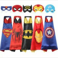 Jubah Superhero cap kostum anak anak batman superman ironman captain a