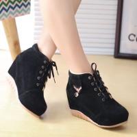 Daysa-sepatu boots wedges bkr 14 - Hitam, 37