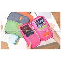 HOT SALE P.TRAVEL KOREAN Fabric Passport Cover Wallet Card Holder