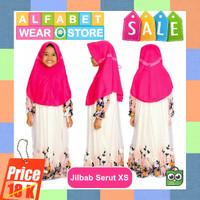 Termurah Jilbab Instan Serut untuk Anak Bahan Kaos Ukuran XS