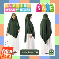 Termurah Jilbab Instan Serut untuk Dewasa Bahan Kaos Ukuran XXL