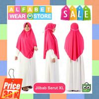 Termurah Jilbab Instan Serut untuk Dewasa Bahan Kaos Ukuran XL