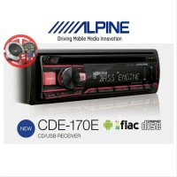 Single Din ALPINE CDE-170E CD USB Flac Android Music