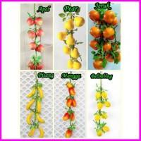 buah buahan dan sayur artificial hiasan wallpaper dinding rumah