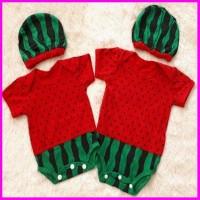 Baju Bayi Laki Laki Perempuan Jumper Bayi Lucu Semangka
