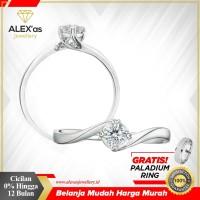 cincin berlian diamond eropa ORIGINALL(0,15 crat) & emas 75%