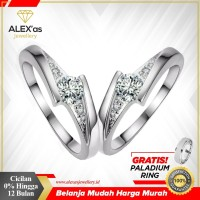 cincin berlian eropa asli natural diamond gold emas 75% termurah