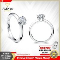 cincin berlian eropa natural diamond emas 18K original AXS 0986