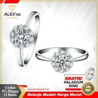 cincin tunangan/nikah berlian eropa natural diamond original emas 75%