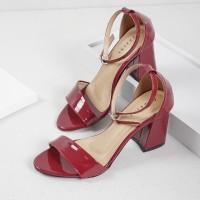 Guzzini ND 751 Merah Maron - Block Heels Tali Casual