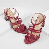 Guzzini ND 752 Merah Maron - Block Heels Tali Casual