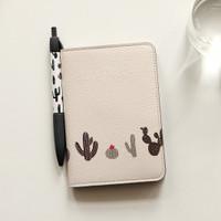 Cover Passport / Sarung Passport Travel Karakter PU Leather Import - Cactus