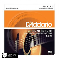 Senar Gitar String D'Addario EJ 10 Bronze 80/20 0.10 - 0.47