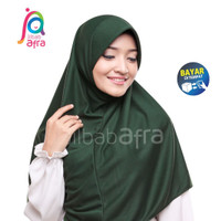 Jilbab Instan Afra Arfa Beria Hijab Kerudung Kaos Pet Bergo Hijau Tua