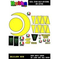 Decal stiker Helm Rossi 2018 universal