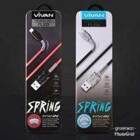 Vivan Spring FL100 Iphone 5 6 6s 7 Lightning Data Cable Original 100%
