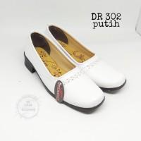 sepatu pantovel formal putih sekolah wanita - Putih, 36
