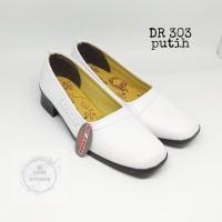 sepatu pantovel putih sekolah wanita Dr-303 - Putih, 36