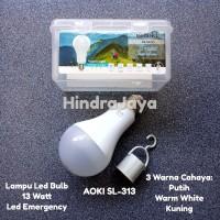 Lampu Led Bulb 13W + Lampu Emergency Aoki SL313