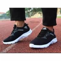 Sepatu Pria Kasual Kets Adidas Alphabounce Hitam