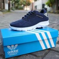 Sepatu Pria Kasual Sneakers Kets Adidas Alphabounce Navy Sport Running