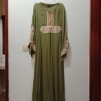 Gamis Maxi Dress Muslim Wanita Hijau
