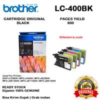 BROTHER Tinta LC400BK   LC400 BK   LC-400BK Original Black