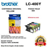 BROTHER Tinta LC400Y   LC400 Y   LC-400Y Original Yellow
