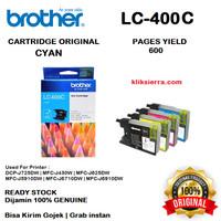 BROTHER Tinta LC400C   LC400 C   LC-400C Original Cyan
