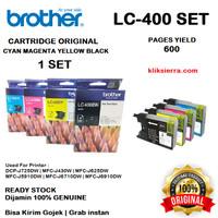 BROTHER Tinta 1SET LC400BK CMY   LC400 BK CMY Original LC-400BK CMY