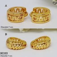 K033 - Anting Anak - Set Perhiasan Xuping Lapis Emas