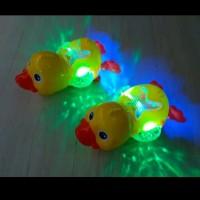 Mainan Bebek Angsa Musik dan Lampu 3D