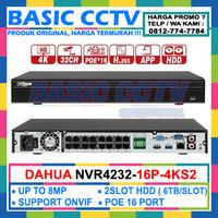 NVR CCTV DAHUA 32CH NVR4232-16P-4KS2 SUPPORT 16 POE BERGARANSI RESMI