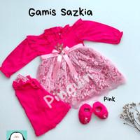 Baju Muslim Bayi Perempuan Gamis Newborn Akikah Bulanan 3-6 Bulan