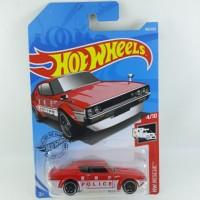 Mainan Anak/Hot Wheels Police NISSAN SKYLINE 2000 GT-R Warna Merah